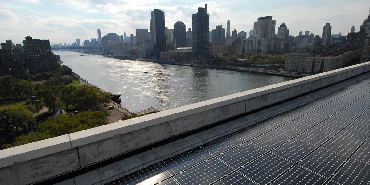 Largest residential solar array system in New York City