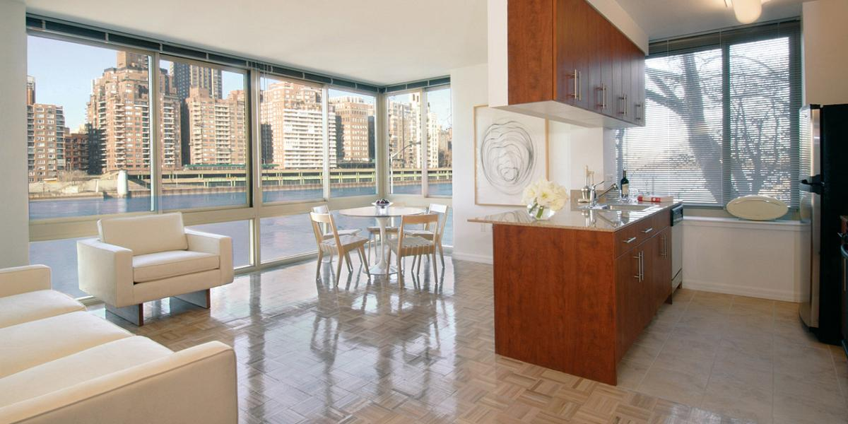 Open floorplan apartments New York