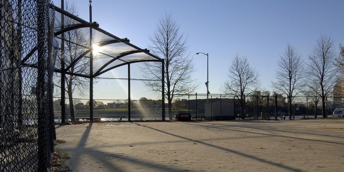 Sports fields and parks on Roosevelt Island